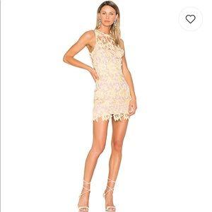 NBD Harriet floral lace dress in sunshine